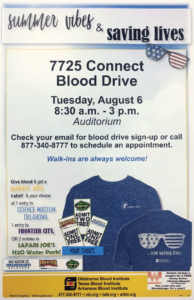 7725 CONNECT blood drive graphic
